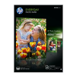 HP Q5451A papel fotográfico Negro, Azul, Blanco Semi-brillo A4