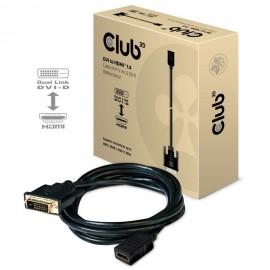 CLUB3D Cable DVI a HDMI 1.4 M   F 2m   6.56ft bidireccional