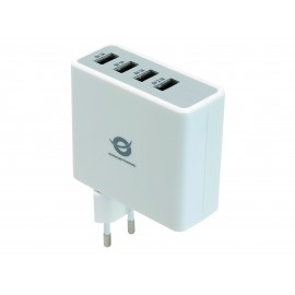Conceptronic Cargador USB de 4 puertos y 5.1 A