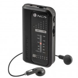 NGS Code Knock radio Personal Analógica Negro