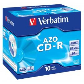 Verbatim CD-R AZO Crystal 700 MB 10 pieza(s)