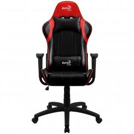 Aerocool AC100 Air Silla para videojuegos de PC Asiento acolchado Negro, Rojo