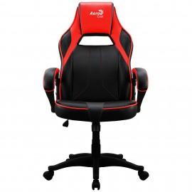 Aerocool AC400C Air Silla para videojuegos de PC Asiento acolchado Negro, Rojo