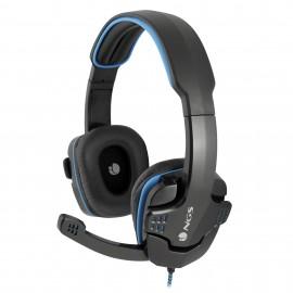 NGS GHX-505 auricular y casco Auriculares Diadema Negro, Azul
