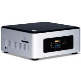 Intel BOXNUC5PPYH PC estación de trabajo barebone N3700 1,6 GHz UCFF Plata, Negro BGA 1170