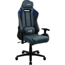 Aerocool DUKE AeroSuede Silla para videojuegos universal Negro, Azul