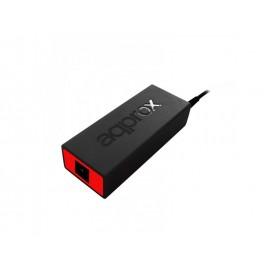 Approx appUA90BRV4 adaptador e inversor de corriente Universal 90 W Negro, Rojo