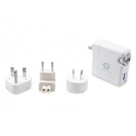 Conceptronic CUSBCHARKIT cargador de dispositivo móvil Auto, Interior Blanco