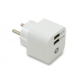 Conceptronic Cargador USB de 2 puertos y 3.4 A
