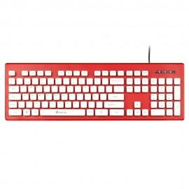 NGS Clipper teclado USB QWERTY Español Rojo, Blanco