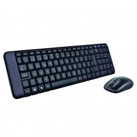 Logitech MK220 teclado RF inalámbrico Español Negro