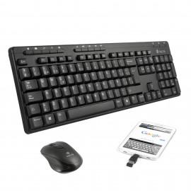 NGS Epsilon Kit teclado RF inalámbrico QWERTY Negro